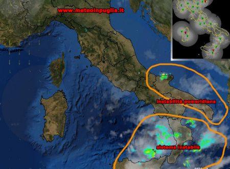 Situazione Meteo Puglia 27-09-2017 – Instabilità pomeridiana