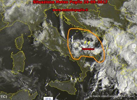 Situazione Meteo Puglia 29-09-2017 – Instabile, temporali forti dal mare!