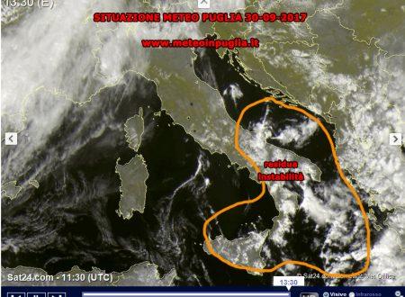 Situazione Meteo Puglia 30-09-2017 – Tempo in miglioramento