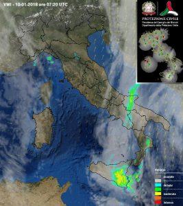 radar meteo puglia 10-01-2018
