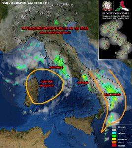 situazione meteo puglia 06-10-2018
